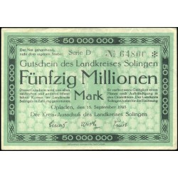 Opladen 50,000,000 Mark 1923
