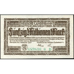 Darmstadt 50,000,000 Mark 1923