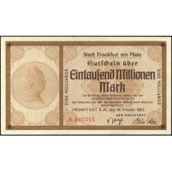 Fráncfort del Meno 1.000 Mio Mark 1923