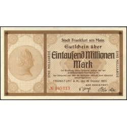 Frankfurt am Main 1 billion Mio Mark 1923