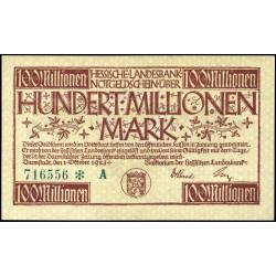 Darmstadt 100,000,000 Mark 1923
