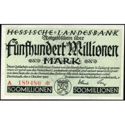 Darmstadt 500.000.000 Mark 1923