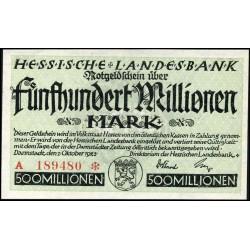 Darmstadt 500 Mio Mark 1923
