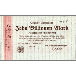 Berlin 10 Billionen Mark 1923