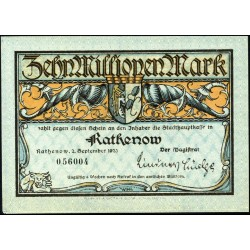 Rathenow 10 millones Mark 1923