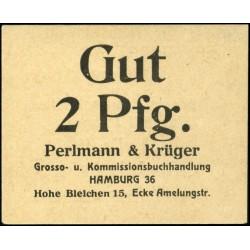 Hamburgo - Perlmann & Krüger 2 Pfennig