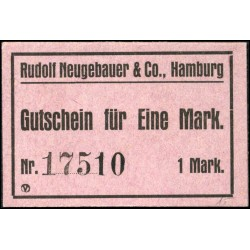 Hamburg - Rudolf Neugebauer & Co. 1 Mark