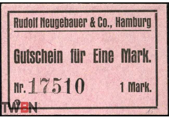 Hamburg - Rudolf Neugebauer & Co. 1 Mark