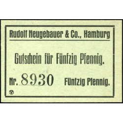 Hamburg - Rudolf Neugebauer & Co. 50 Pfennig