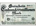 Eschweiler and Stolberg 100,000,000 Mark 1923