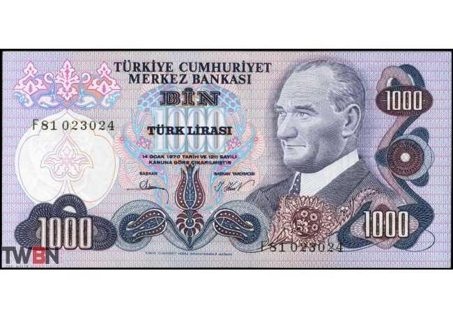 Turkey P- 191_F_UNC-