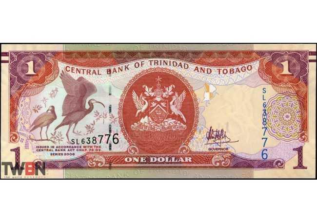 BANKNOTE WORLD P-NEW, 2017 2006 1 NOTE OF $1 TRINIDAD /& TOBAGO
