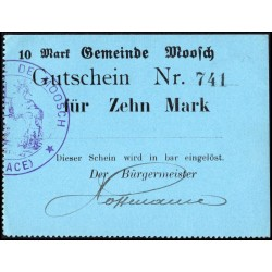Moosch (Alsace) 10 Mark ND (1914 - 1915)