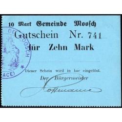 Moosch (Elsaß) 10 Mark oD (1914 - 1915)