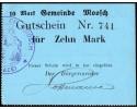 Moosch (Alsace) 10 Mark ND (1914 - 1915)