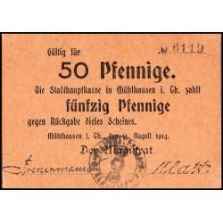 Mühlhausen (Thuringia) 50 Pfennige 1914